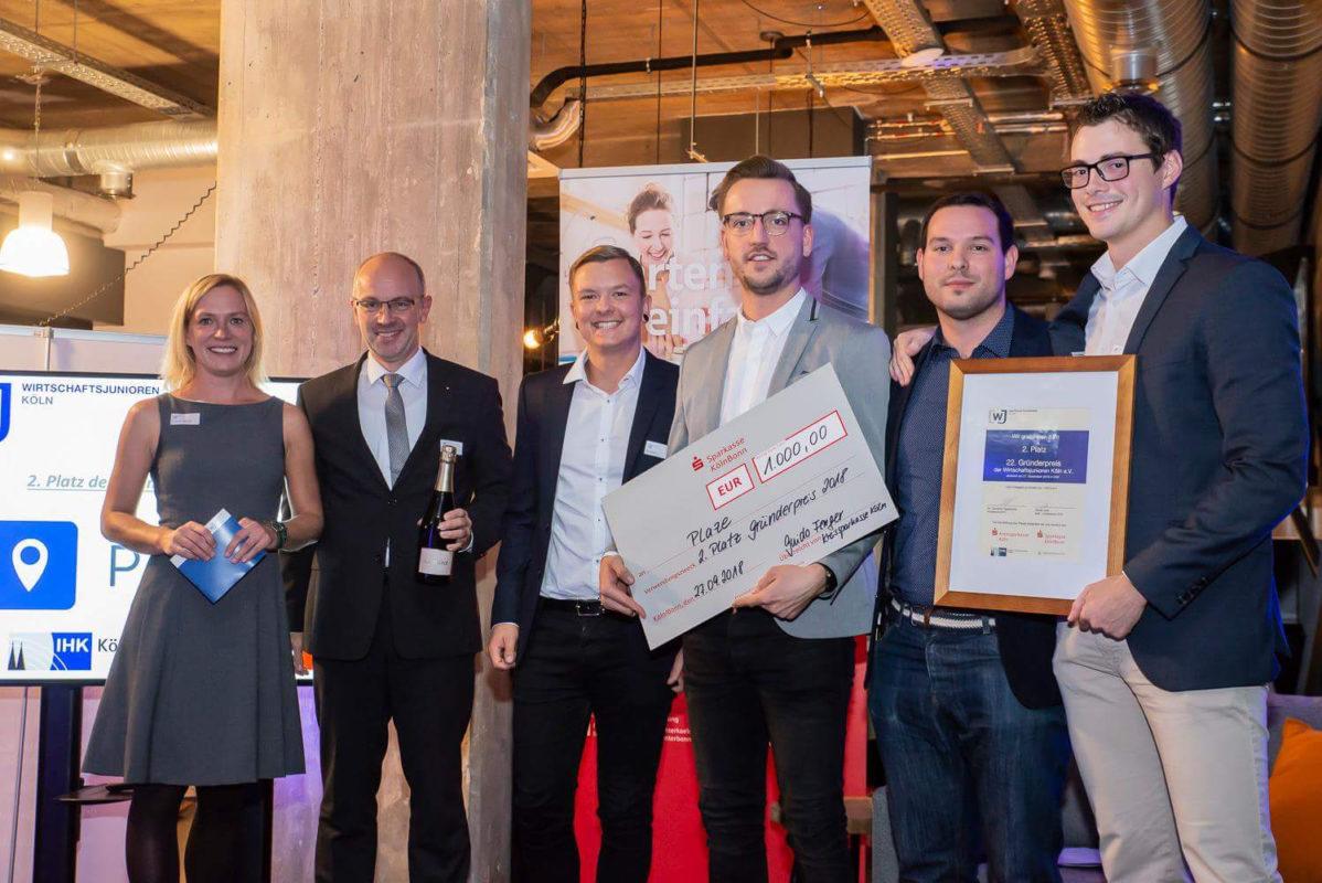 Plaze Team bei der Preisverleihung WJ Köln