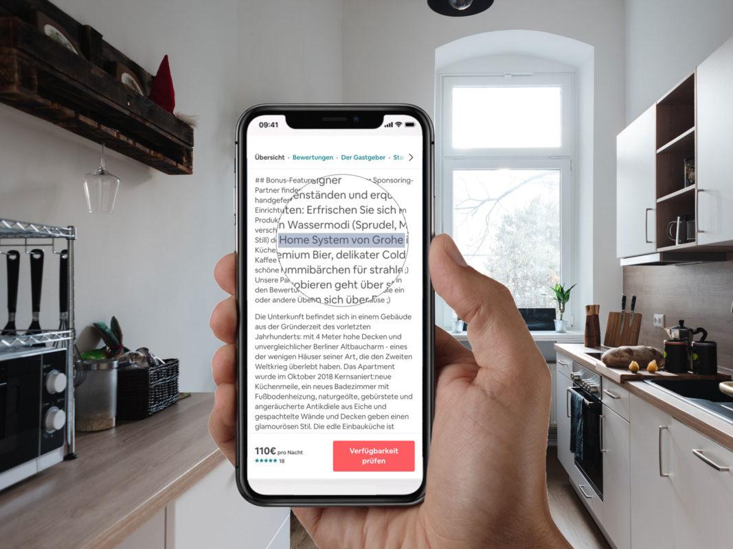 Roamlike Erwähnung Deiner Marke im Airbnb Inserat