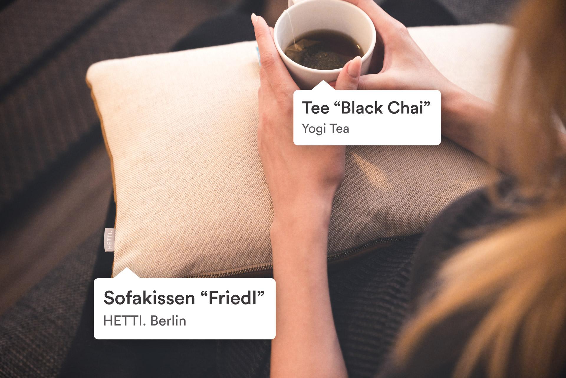 Kissen von Hetti Berlin als Erlebnismarketing in einer Airbnb Wohnung